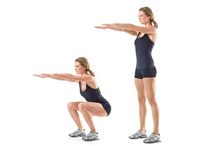 3 упражнение – приседания