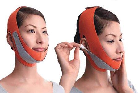 Коррекция овала лица с помощью повязки-бандажа