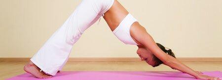 Упражнение «Собака мордой вниз» (из йоги)