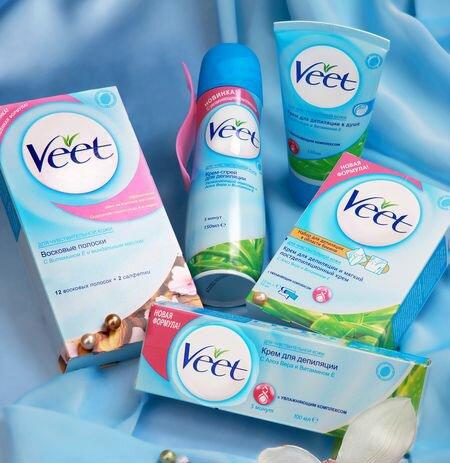 Крем для депиляции интимных зон Veet: что входит в комплект