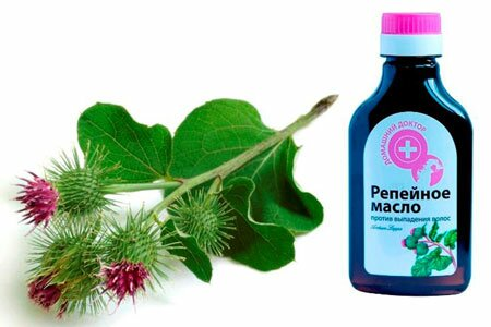 Репейное  масло для волос: применение в домашних условиях