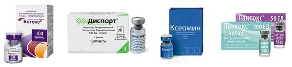 Состав и свойства препаратов на основе ботулинического токсина